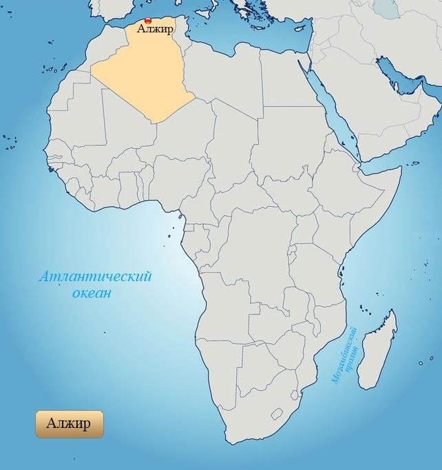 Алжир: страна на карте Африки