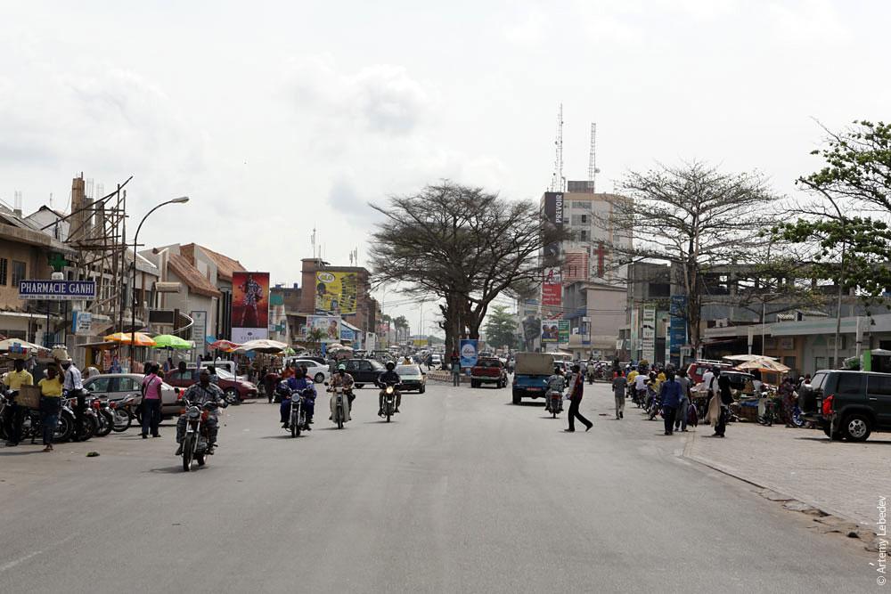 Центр города Котону