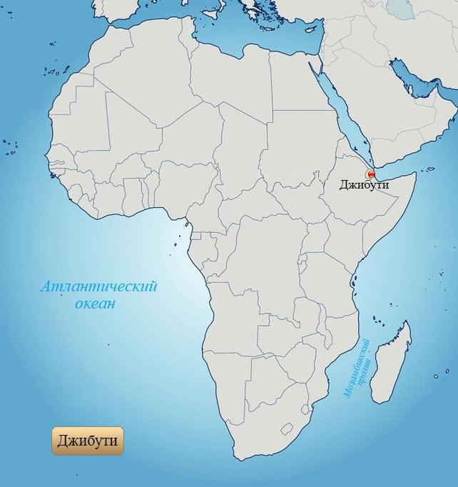 Джибути: страна на карте Африки