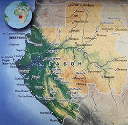 Карта Габона с городами