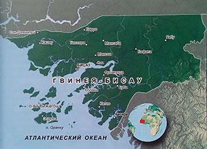 Подробная карта Гвинеи-Бисау