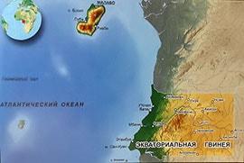 Подробная карта Экваториальной Гвинеи