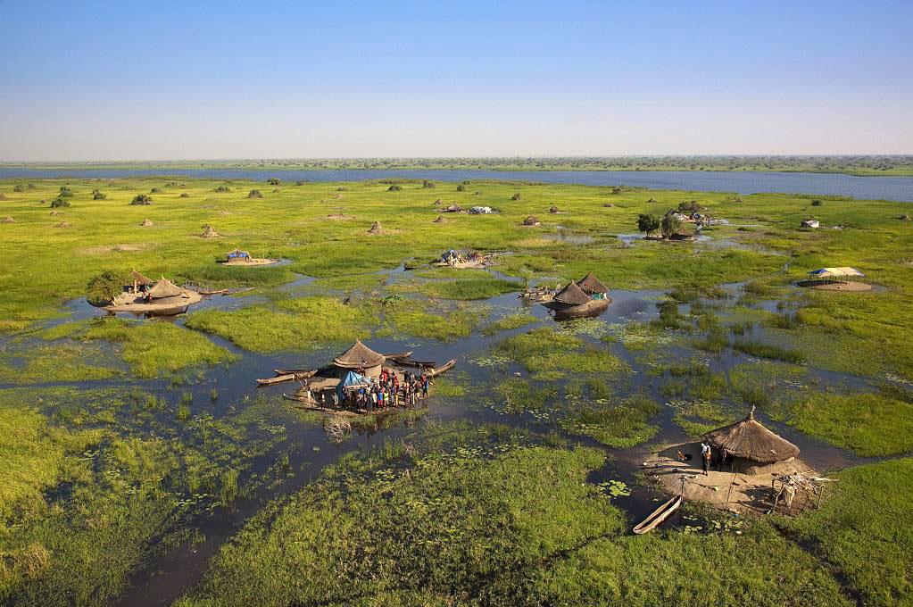 Болотистый регион Судд в долине Белого Нила