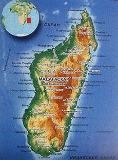 Подробная карта Мадагаскара