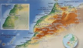 Подробная карта Марокко