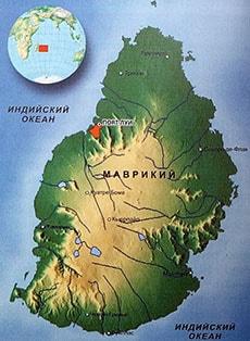 Подробная карта Маврикия