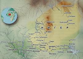 Карта Нигера с городами