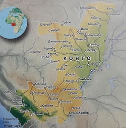 Подробная карта Республики Конго