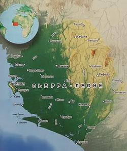Политическая карта Сьерра-Леоне