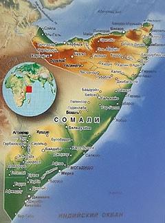 Карта Сомали с городами