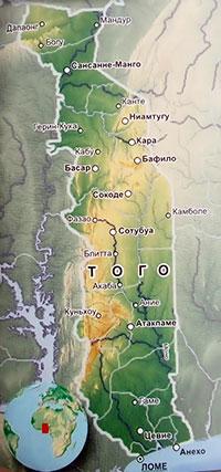 Политическая карта Того