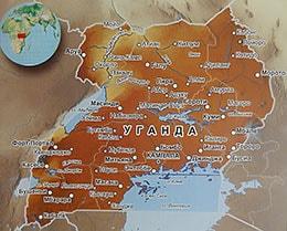 Карта Уганды с городами